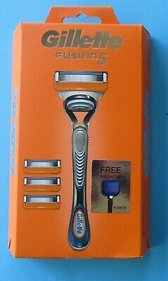 AU23.95 • Buy Gillette Fusion 5 Handle With Razor Cap Brand New Genuine Blades Free Postage