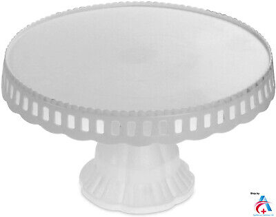 £6.49 • Buy White Plastic Cake Stand Traditional Desserts Plate Display Muffin Cupcake Rack