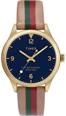 $54.95 • Buy Timex TW2T26300 Waterbury Women's Gold-Tone Analog Watch Leather Strap