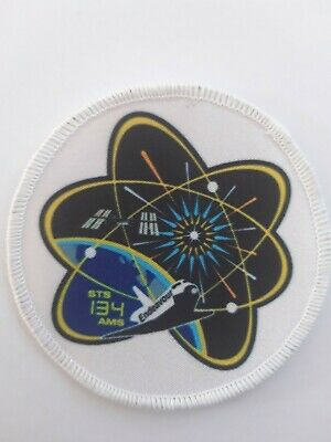 NASA Approved First Space Shuttle Mission STS 134 3  Iron / Sew On Patch Badge  • 3.99£