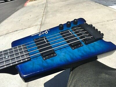 $ CDN669.91 • Buy Steinberger Spirit XT-25 Blue Quilt Top 5-String Electric Bass W/ Fender Gigbag