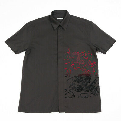 £19.99 • Buy Vintage C&A Chinese Dragon Shirt | Medium | Button Retro 90s Y2k Party Graphic