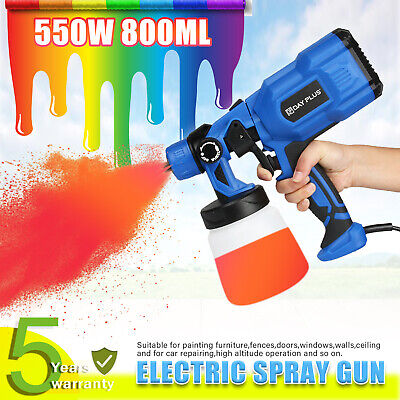 £31.56 • Buy 550W Electric Spray Gun Paint For Cars Home Wood Furniture Wall Sprayer 230V