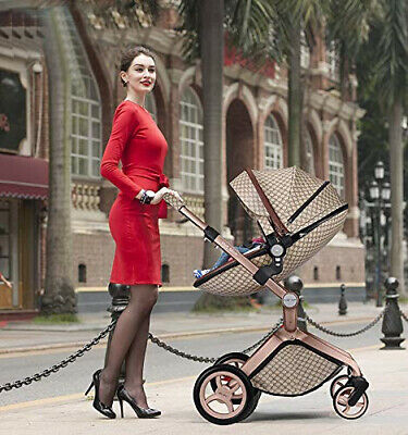 $749.99 • Buy Luxory Baby Stroller 2020 NEW Style 3 In1 Baby Carriage With Bassinet Combo-Grid