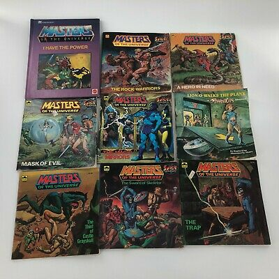 $89.99 • Buy Masters Of The Universe 1985 Mattel Golden Super Adventure Book Lot Of 9 Books
