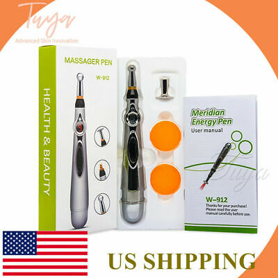 $12.99 • Buy Meridian Acupuncture Pen With 3 Massage Head Energy Pain Therapy Relief