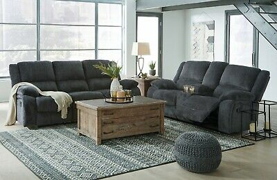 $1295 • Buy Ashley Furniture Draycoll Reclining Sofa And Loveseat Living Room