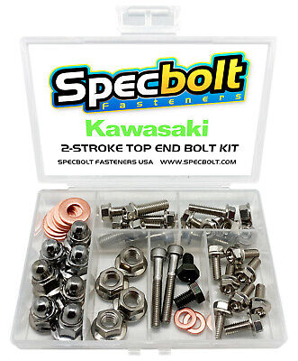 $34.97 • Buy Kawasaki KX125 Top End Engine Bolt Kit KX 125 (Nickel)
