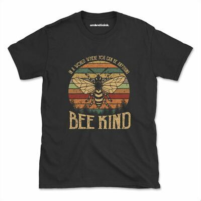 AU28.95 • Buy Can Be Anything Bee Kind Tshirt Hippie Kindness Nature Womens Mens