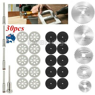 AU12.99 • Buy 30x Mini Diamond Cutting Discs Wheel Blades Set+Drill Bit For Dremel Rotary Tool
