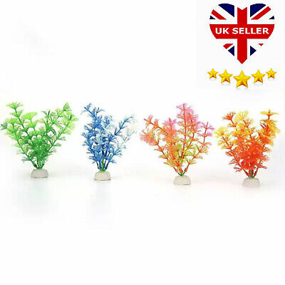 Artificial Fish Tank Plants Aquarium Aquatic Decoration Ornament Grass Flower UK • 2.25£