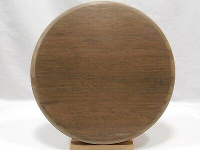 $23.84 • Buy Unfinished Wooden Round Plaque Stand Base Sign 10 X 3/4  Peruvian Walnut Wood