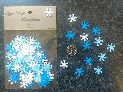 100 Mixed Snowflakes Christmas Crafts Card Making Decorations Winter Card #85 • 1.89£