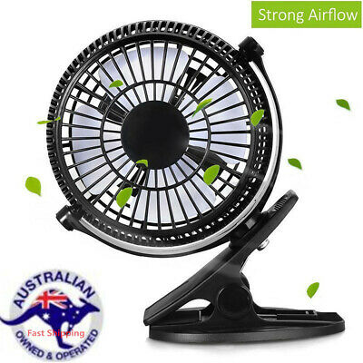 AU20.06 • Buy 7'' Clip On Fan 2 Speed Strong Airflow USB Hydroponics Office Student Desk Tent!