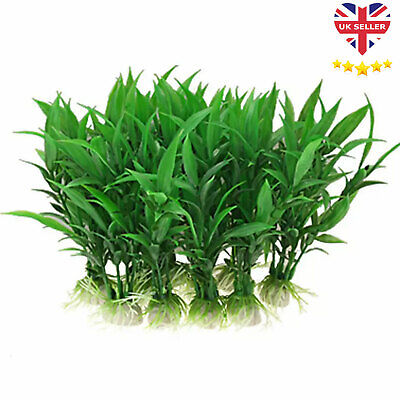 Artificial Fish Tank Plants Aquarium Aquatic Decoration Ornament Grass Flower UK • 1.99£