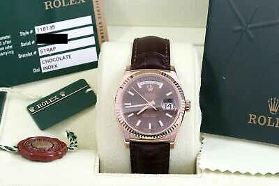 $ CDN22400.68 • Buy Rolex Day Date 36 President Everose - Chocolate - Leather Box/Papers/Card 118135