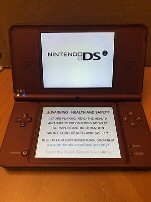 $30 • Buy Nintendo DSi XL 256MB Burgundy Handheld System [Missing Stylus]