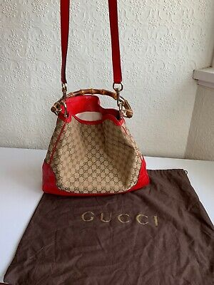 AU495 • Buy 100% Authentic GUCCI Shoulder Bag Bamboo Handle