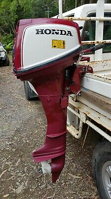AU500 • Buy Honda 7.5hp 4 Stroke Outboard Motor+spare Prop+fuel Tank-pickup Or Your Courier