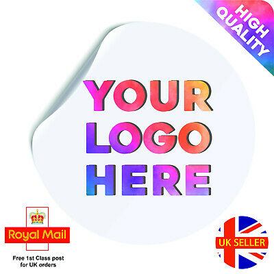 Round Custom Logo Stickers, Personalised Business / Company Name Labels Flower  • 2.89£