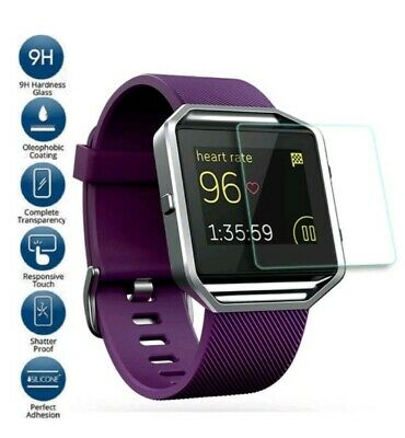 $ CDN2.52 • Buy Premium Tempered Glass Screen Protector Guard For Fitbit Blaze Smart Watch