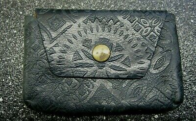 $14.99 • Buy Fossil Blue Vinatge Coin Purse Leather Small Original Owner ((hxw)3X4.5 Inches