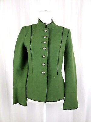 $49.92 • Buy GEIGER AUSTRIA Womens Size 38 Medium Green Pure Wool Button Up Jacket