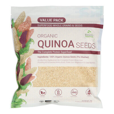AU16.95 • Buy Certified Organic White Quinoa Seeds Superfood 1 Kg