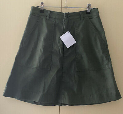 AU59 • Buy New With Tag Scanlan Theodore Khaki Cotton A-Line Skirt - Pockets - Size 8