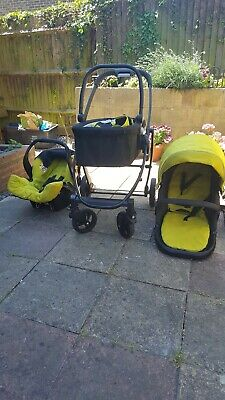Graco Evo Lime Travel System - Stroller, Cot And Car Seat • 50£