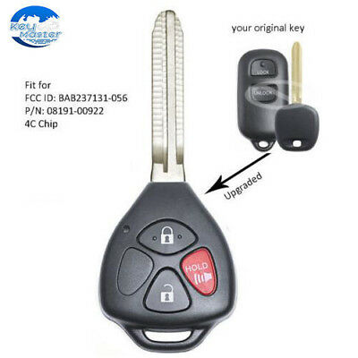 $17.39 • Buy Upgraded Remote Key Fob 303MHz 4C For Toyota Tacoma 1995-2004 - BAB237131-056