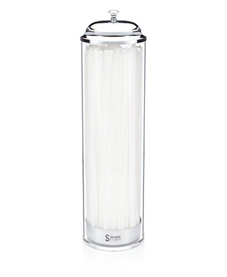 $26.72 • Buy SimplyImagine Acrylic Straw Dispenser - 13 Inch Tall Drinking Straw Holder For &