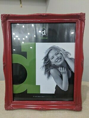 AU19.95 • Buy Photo Picture Frame 8x10  Fontaine  Red. Freestanding Or Hanging. Glass Inner