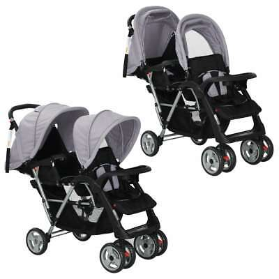 AU196.95 • Buy Baby Tandem Stroller Double Toddler Pushchair Folding Twin Seat Travel Buggy