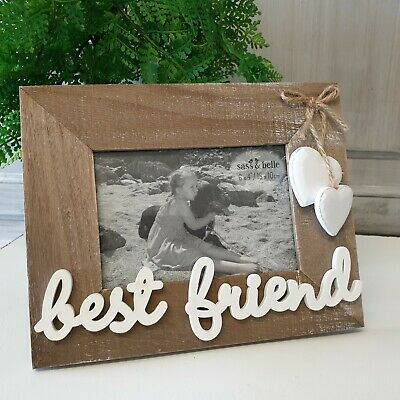 Rustic Best Friend Photo Frame Picture Landscape 5 X 3 Shabby Chic Country Gift • 7.49£