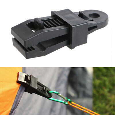 Windproof Clip Awning Clamp Tarp Clips Snap Hanger Tent Camping • 4.49£