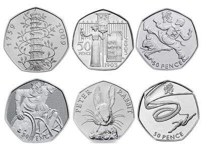 £1.99 • Buy All British 50p Coins - Old Style 50p, D-Day Landings, Beatrix Potter