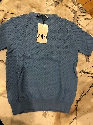 AU20 • Buy Zara Blue Knitted Top - Small