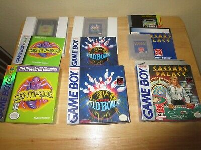 $14.95 • Buy 3 Nintendo Game Boy Games Caesars Palace, World Bowling & Centipede All Complete
