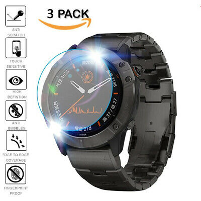 AU3.77 • Buy For Garmin Watch Accessories Tempered Glass Screen Protector Protective Film 3pc