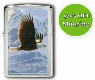 AU10 • Buy Sovereign Power Zippo Lighter - Soaring Spirits Collection - Discount Postage