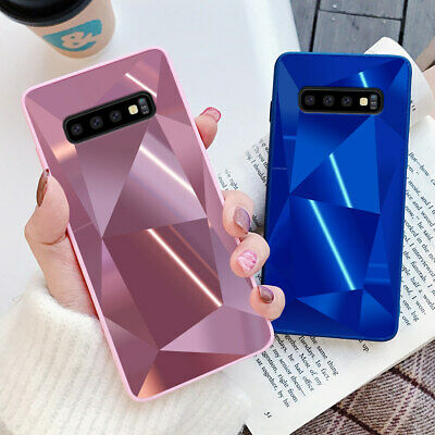 Diamond 3D Bling Mirror Case For Samsung S20 S10 S9 A40 A70 Phone Silicone Cover • 3.85£