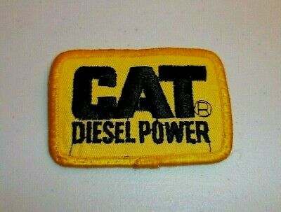 $3.99 • Buy Vintage CAT DIESEL POWER Yellow Black Embroidered Caterpillar Patch Uniform Hat