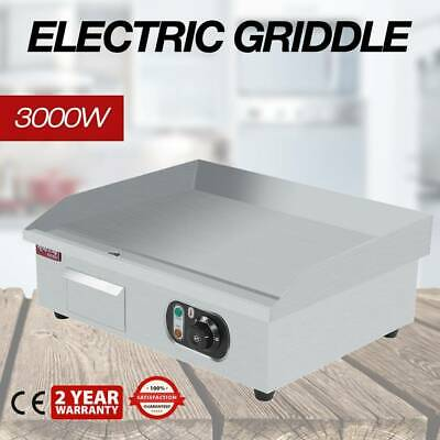 Commercial Electric Griddle 55cm With Stainless Steel Element Hot Plate UK • 69.99£