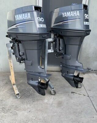 AU12499 • Buy 90hp TWIN PAIR Yamaha Outboard Motors Long Shaft 2006 (Freight Australia Wide )