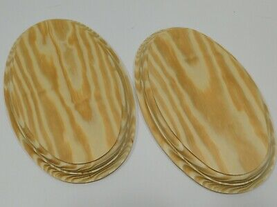$7.48 • Buy Unfinished Wooden Oval Plaque Stand Base Sign 8 1/8 X 5 1/4 X 3/4 Yellow Wood