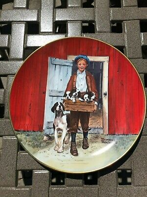 $ CDN12 • Buy Vintage Norman Rockwell Puppy Love 1981 Classic Collection Decorative Plate
