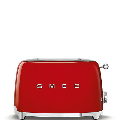 $135.95 • Buy Smeg TSF01RDUS 50's Retro Style Aesthetic 2x2 Slice Toaster, Red