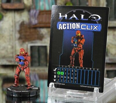 Halo ActionClix #011 Red Spartan With Plasma Rifle W/ Card WizKids • 2.49£