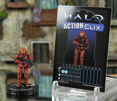 Halo ActionClix #003 Red Spartan With Battle Rifle W/ Card WizKids • 2.49£
